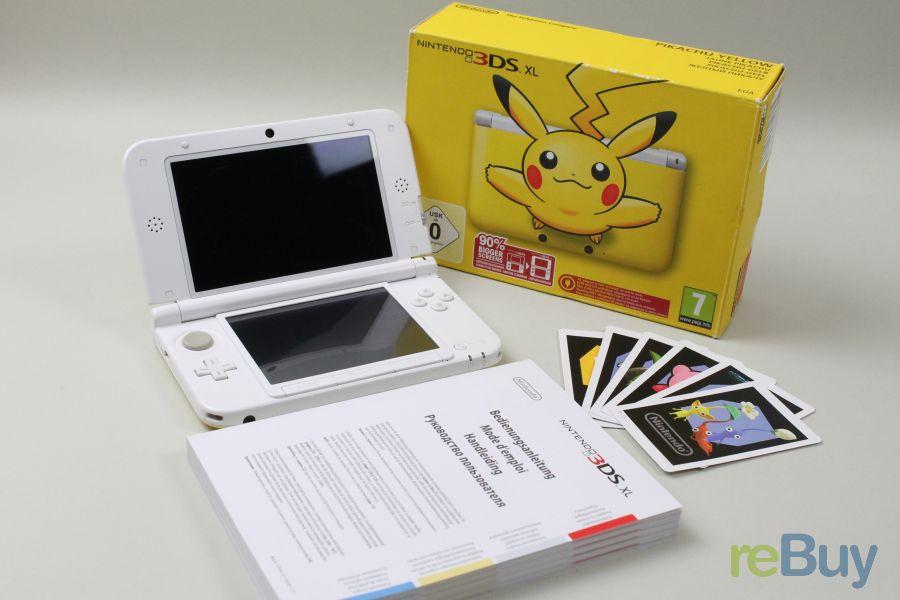 nintendo 3ds xl pikachu yellow inkl 4 gb speicherkarte. Black Bedroom Furniture Sets. Home Design Ideas